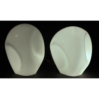 COPPIA DI LAMPADE in vetro Lattice FIRMATE