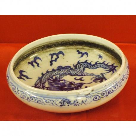 Antica ciotola in porcellana CELADON raffigurante DRAGO