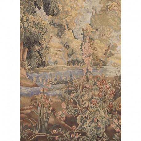 Arazzo - Paesaggio lacustre fauna e rovine